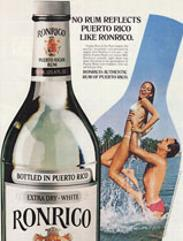 Ellen Michaels in ad for Ronrico Rum