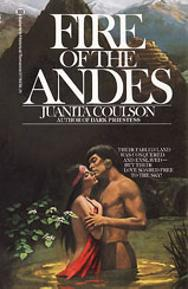 Ellen Michaels on the romance novel book cover Fire Of The Andes