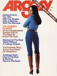 Ellen Michaels on the cover of Argosy Magazine