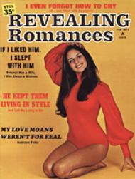 Ellen Michaels on the cover of Revealing Romances Magazine