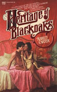 Ellen Michaels on the romance novel book cover Heritage of Blackoaks